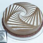 Новогоднее украшение десерта