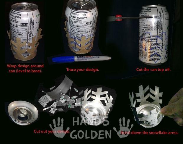 Подсвечники своими руками из алюминиевых банок