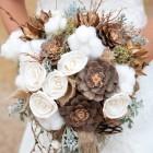 Зимний букет невесты из шишек