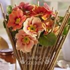 Декоративный горшок для цветов из веток в стиле Эко