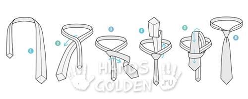 Как завязать галстук – восточный (малый) узел