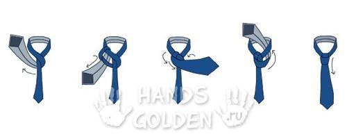 Как завязать галстук - узел Half Windsor (полувиндзор, универсальный)