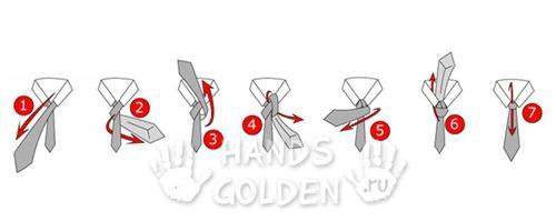 Как завязать галстук - узел Виндзор (классический, двойной)