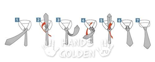 Как завязать галстук - крестовой узел (итальянский, квадратный)