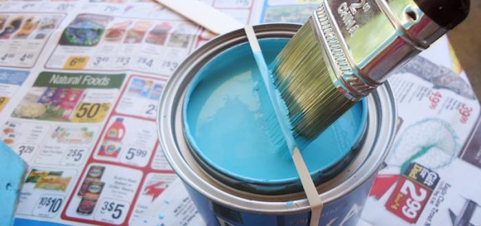 Как не пачкать банку с краской