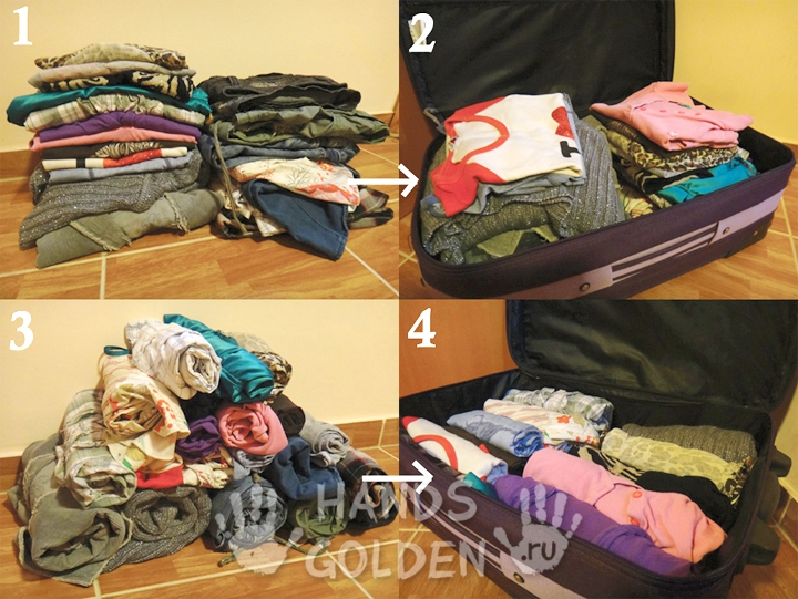 Как упаковать больше вещей в чемодан
