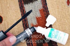 Как восстановить засохшую тушь для ресниц с помощью глазных капель